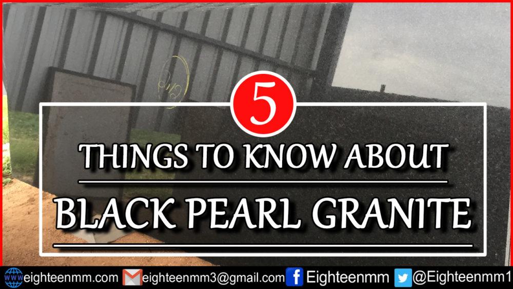 black pearl granite image